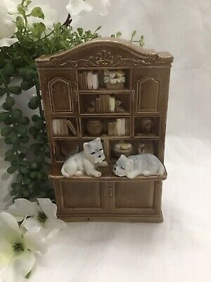 Vintage West Highland Terrier Collectable Doggies On Bookcase
