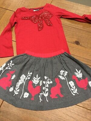 3-4 Christmas Outfit Next Top Boden Skirt