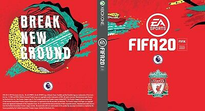 Fifa 20 Xbox One Custom Liverpool FC Cover Outer Printed Case Sleeve Gift Team