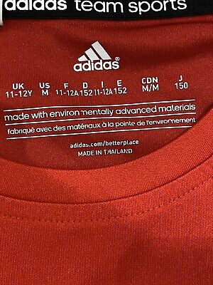 Girls Red Adidas Sports Top Age 11-12 Years