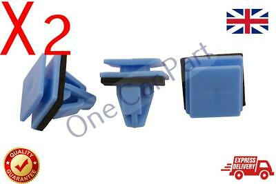 2X Panel Clips Side Sill Moulding Blue Plastic for Hyundai Kia 87758-3L000