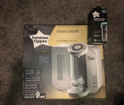 Tommee Tippee Perfect Prep Machine with BRAND NEW replacement Filter - RRP £79