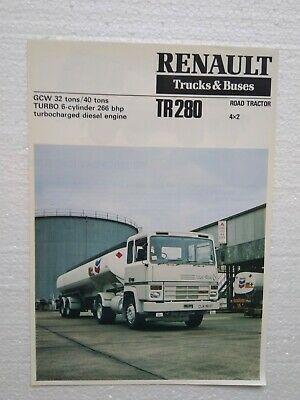 Lot Brochures Berliet Renault Camion Trucks