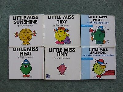 Bundle x 6 Little Miss paperbacks by Roger Hargreaves