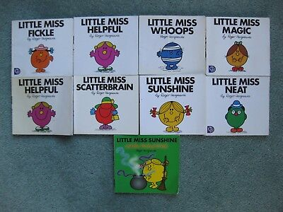 Children's Bundle x 9 Little Miss paperbacks by Roger Hargreaves