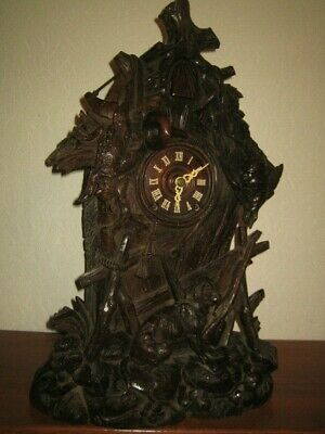 Very Rare Beautiful Antique Black Forest Cuckoo Clock