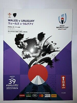 Wales v Uruguay Official Rugby World Cup 2019 Programme