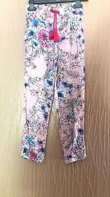 Girls Age 7 Years Tu Floral Print Summer Trousers