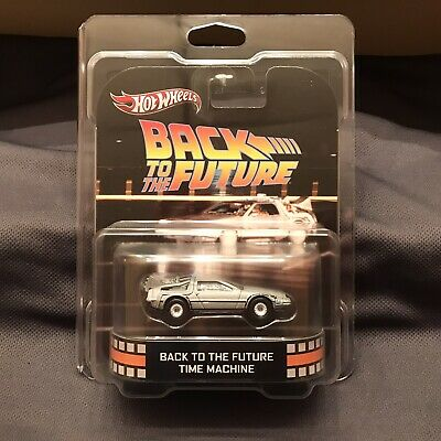 Hot Wheels Retro Entertainment Back To The Future Time Machine W/ Protector