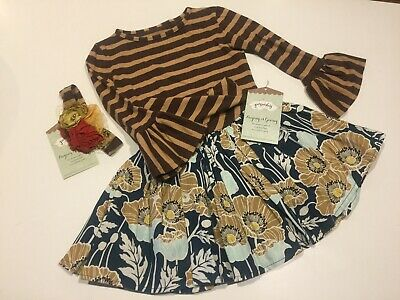 NWT Little Girls Persnickety 3pc Outfit. Sz 3
