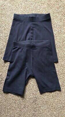 Girls Age 7-8 Years George Navy Blue School Shorts X 2 Pairs