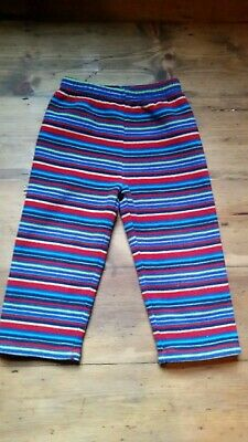 Jojo maman bebe 2-3yrs Rainbow Stripe Polarfleece Trousers