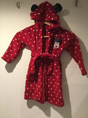 Disney Baby Minnie Mouse Dressing Gown (18 - 24 months) - Excellent Condition