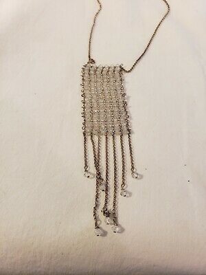 Perfect Italian Sterling Silver and Crystal Beaded Necklace Wonderful Necklace!