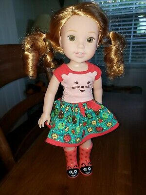 """14"""" American Girl Wellie Wishers WILLA Doll--Original, Great condition!"""