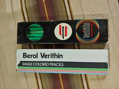 VINTAGE VERITHIN EAGLE and berol COLORED PENCILS NEW OLD STOCK gold tipped