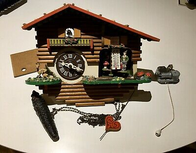 Vintage 1970's  Swiss Cuckoo Clock And Musical box Workings For Parts Or Repair