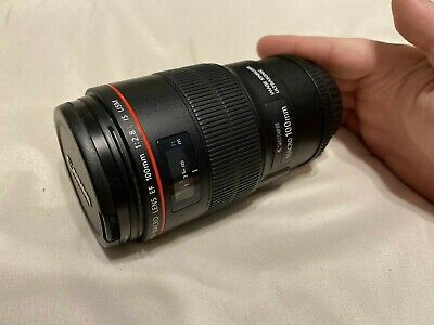 Canon EF 100mm f/2.8L IS USM Prime Portrait / Macro Camera Lens (3554B002)