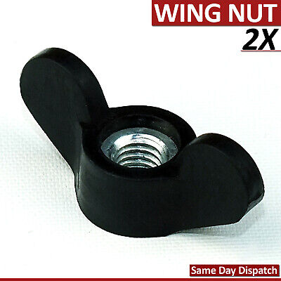 2 Pcs M6 Female Butterfly Wing Nuts Thread Plastic Star Clamping Knob Machine