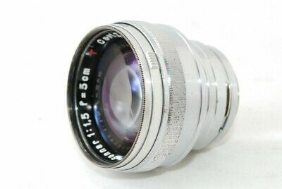 CONTAX Carl Zeiss Jena Sonnar 5cm 50mm F1.5 Red T lens , Very good!! 19112701