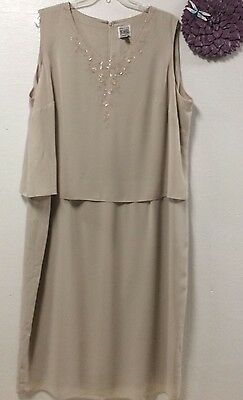 Womens Dress Size 30 W Mother of the Bride Champagne RM Richards Karen Kwong 67