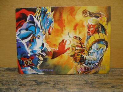 1995 Fleer Ultra Marvel X-Men Card #128 Greatest Battles Cable Vs Stryfe