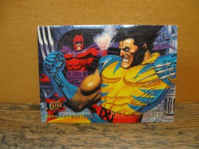 1995 Fleer Ultra Marvel X-Men Card #134 Greatest Battles Magneto Vs Wolverine