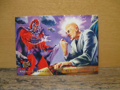 1995 Fleer Ultra Marvel X-Men Card #133 Greatest Battles Magneto Vs Professor X