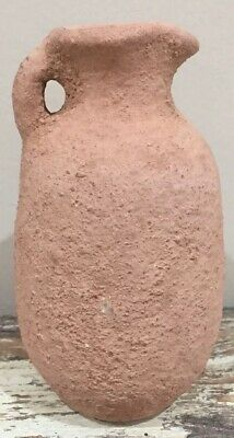 Ancient Byzantine Terracotta Perfume Bottle Rare 330-640 AD Pottery Jar