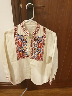 Retro Hippie Mexican Embroidered Shirt