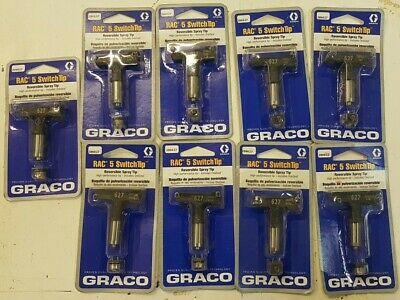 Nine(9) Graco Rac 5 286627 Airless Switch Tip Paint Spray Tip Size 627