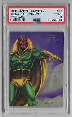 1994 Flair Marvel Universe  #27 Behold the Vision - PSA 9 MINT - NEWLY GRADED