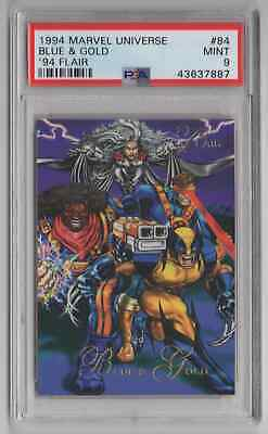 1994 Flair Marvel Universe  #84 Blue & Gold - PSA 9 MINT - NEWLY GRADED (EE28)