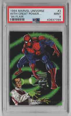 1994 Flair Marvel Universe  #3 With Great Power - PSA 9 MINT - NEWLY GRADED