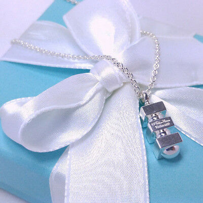 Tiffany & Co. Paloma Picasso Groove Pendant Necklace 20 Inch Sterling Silver 925