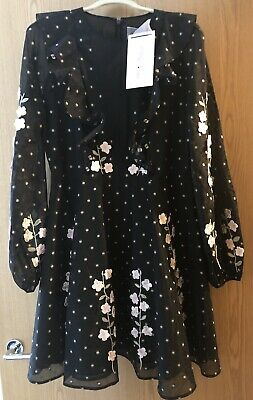 GIAMBATTISTA VALLI X HM DRESS WITH EMBROIDERY SIZE UK 14 New with Tags