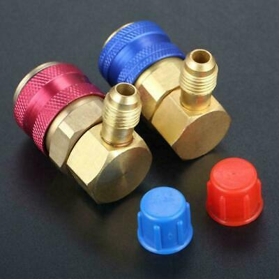AC Manifold Gauge R134a Hose Conversion Quick Adapter Fitting Coupler Low H D7G9