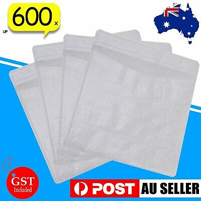 Premium White CD DVD Double Sided Plastic Sleeves Holds 2 discs 100Pcs Per Bag