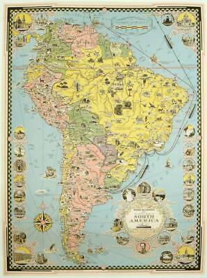 Moore-McCormack Lines Pictorial Map of South America / 1942