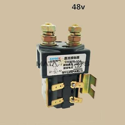 SW80B-156 DC Contactor Component Solenoid 48V 125A For Electronic Control System
