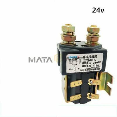 SW80B-6 DC Contactor Component Solenoid 24V 125A For Electronic Control System