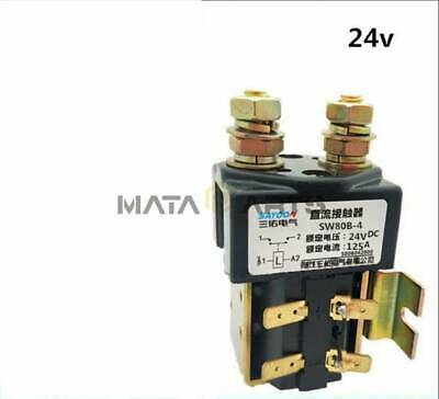 SW80B-4 DC Contactor Component Solenoid 24V 125A For Electronic Control System