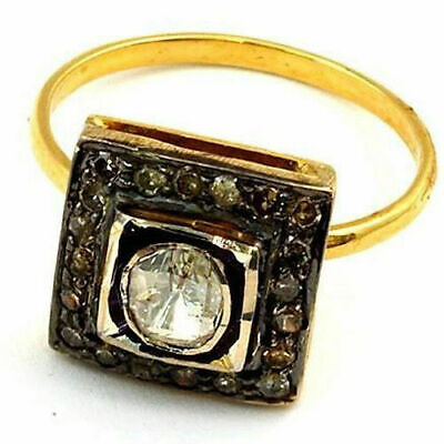 Pretty Victorian Style 1.10 cts Antique Rose Cut Diamond Ring Free Shipping
