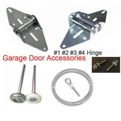 Garage Door Heavy Duty Hinges Roller Brackets Wheel Wire Cable Pulley Bearing