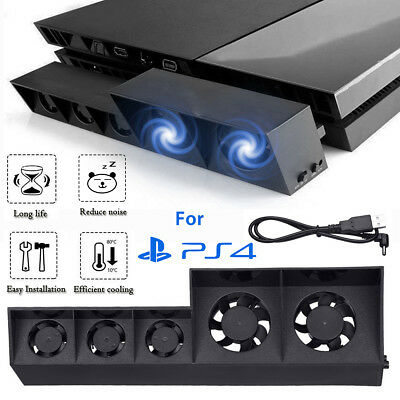 USB Cooling Fan Cooler External Turbo Temperature Control for Playstation 4 PS4