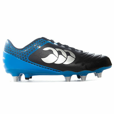 Canterbury Stampede 2.0 SG Soft Ground Mens Rugby Boot Black/Blue - UK 11