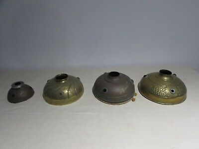 Set of 4 Lampshades in Brasses for Lamps a Oil