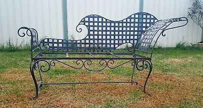 Vintage cast iron rustic day bed