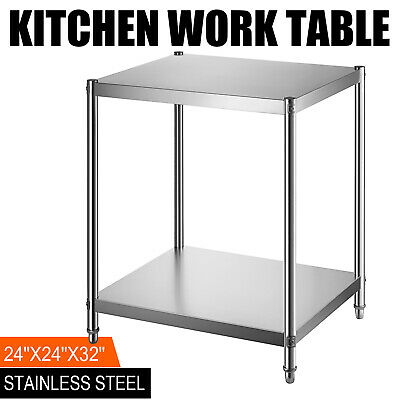 """24"""" x 24'' Stainless Steel Kitchen Work Table Food Commercial Restaurant"""
