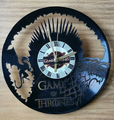 Game of Thrones House Targaryen Dragons Vinyl Record Wall Clock Room Decor Gift